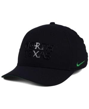 Nike North Texas Mean Green Col Cap In Black