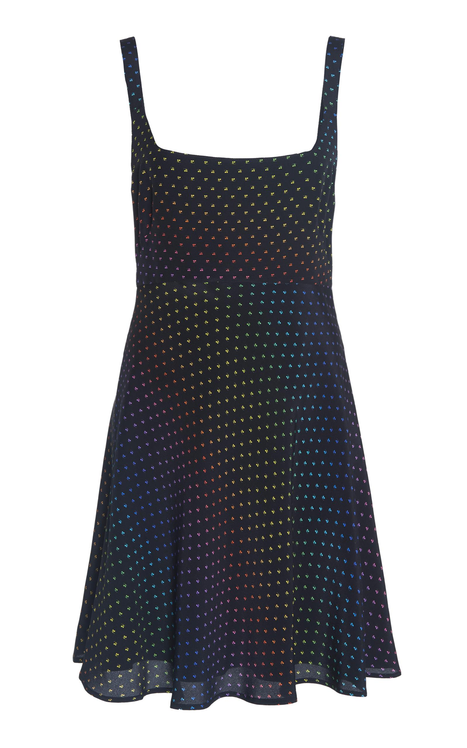 CourrÈGes Printed Silk Dress In White