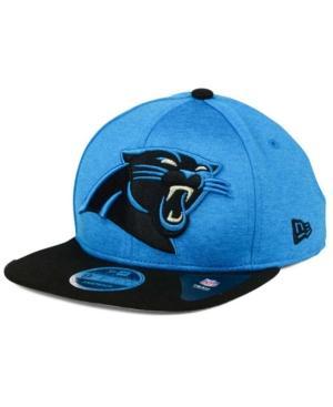 New Era Carolina Panthers Heather Huge 9Fifty Snapback Cap In Lightblue/Black