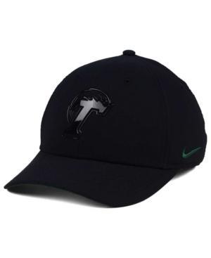 Nike Tulane Green Wave Col Cap In Black