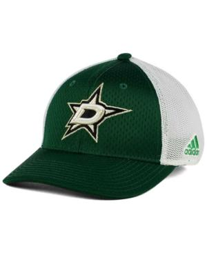 Adidas Originals Adidas Dallas Stars Mesh Flex Cap In Green/White