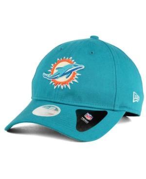New Era Miami Dolphins Team Glisten 9Twenty Cap In Teal