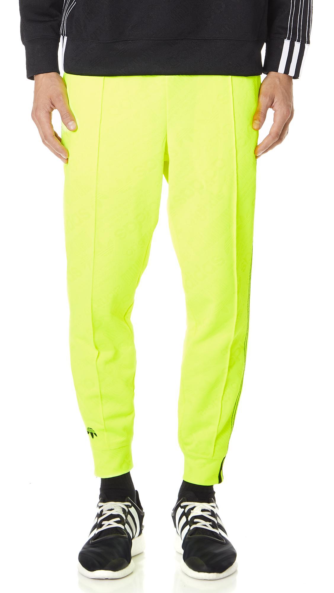 Adidas Originals By Alexander Wang Aw Jacquard Track Pants In Solar Yellow
