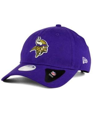 New Era Minnesota Vikings Team Glisten 9Twenty Cap In Purple