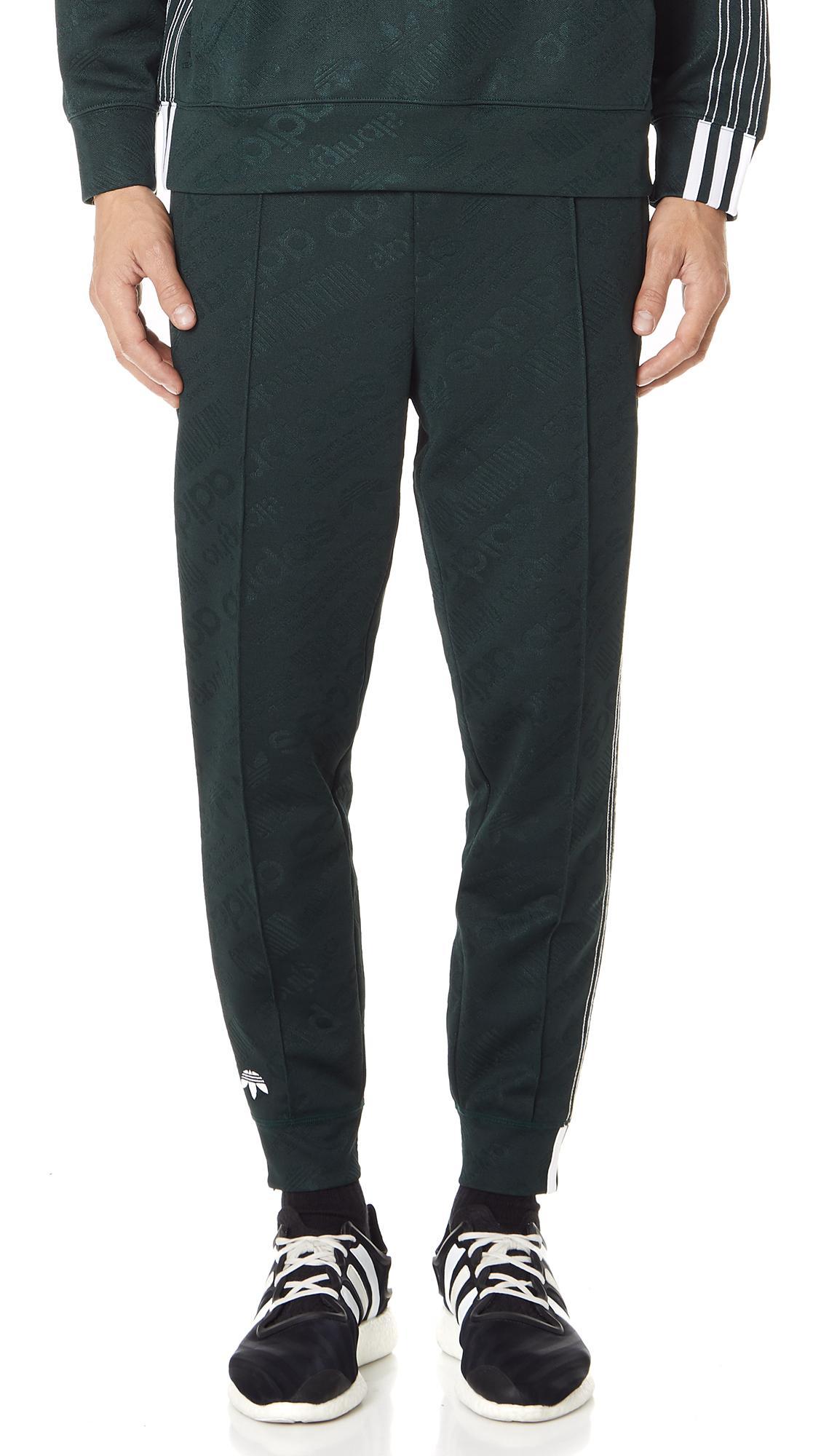 Adidas Originals By Alexander Wang Aw Jacquard Track Pants In Green