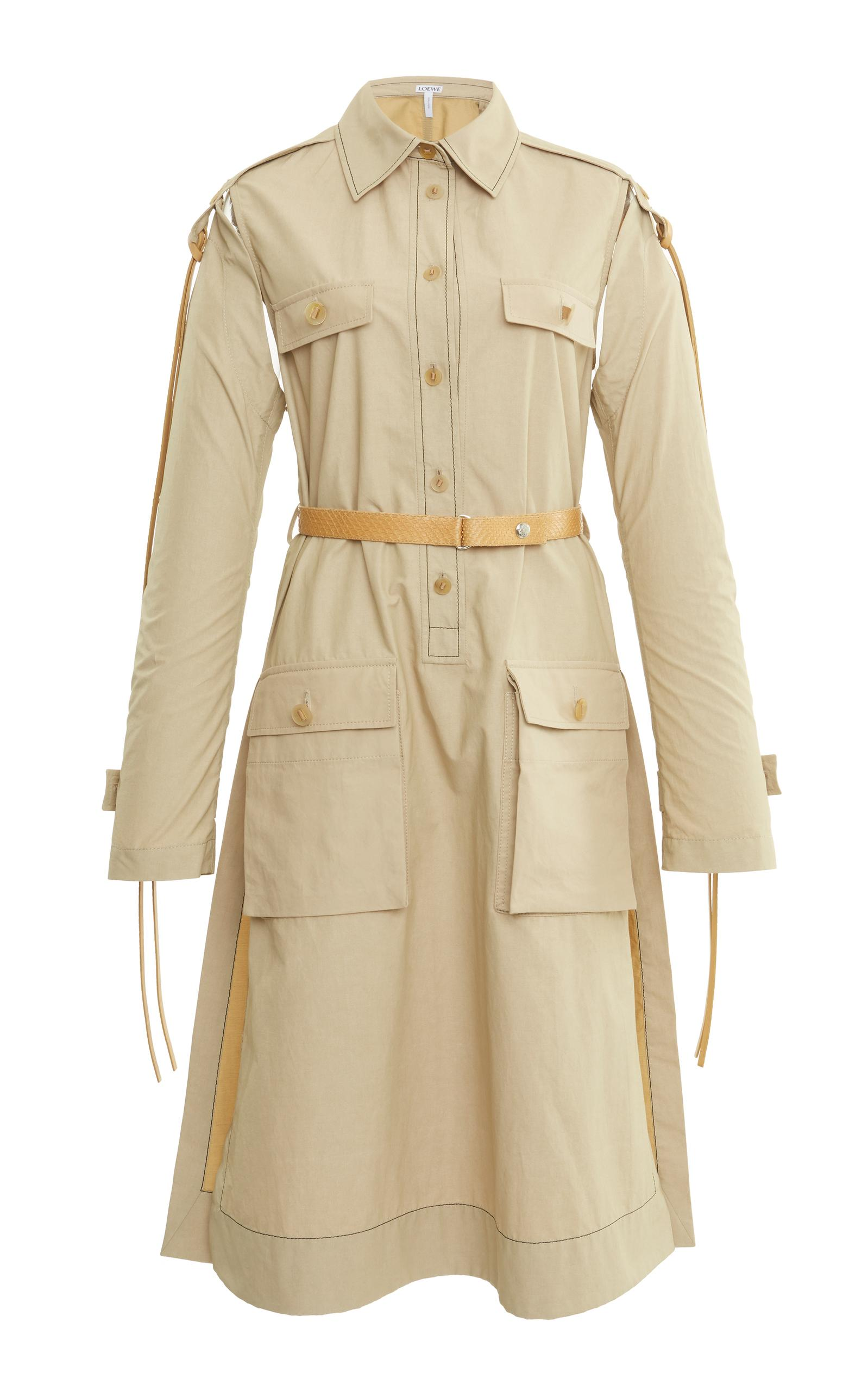Loewe Patch Pocket Shirtdress In Neutral
