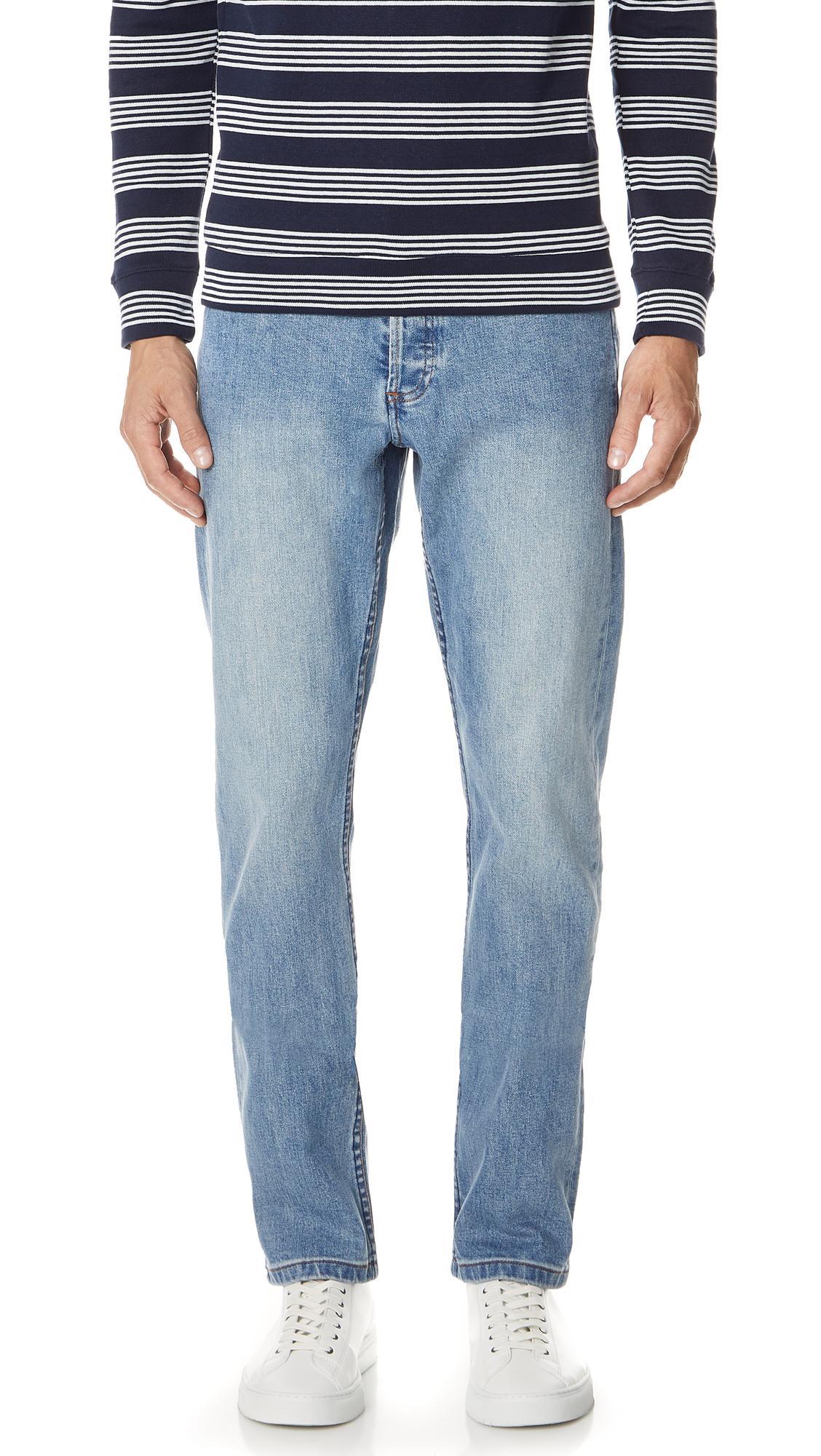 A.P.C. Standard Jeans In Indigo Delave