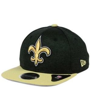 New Era New Orleans Saints Heather Huge 9Fifty Snapback Cap In Black/Old Gold
