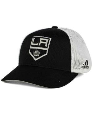 Adidas Originals Adidas Los Angeles Kings Mesh Flex Cap In Black/White