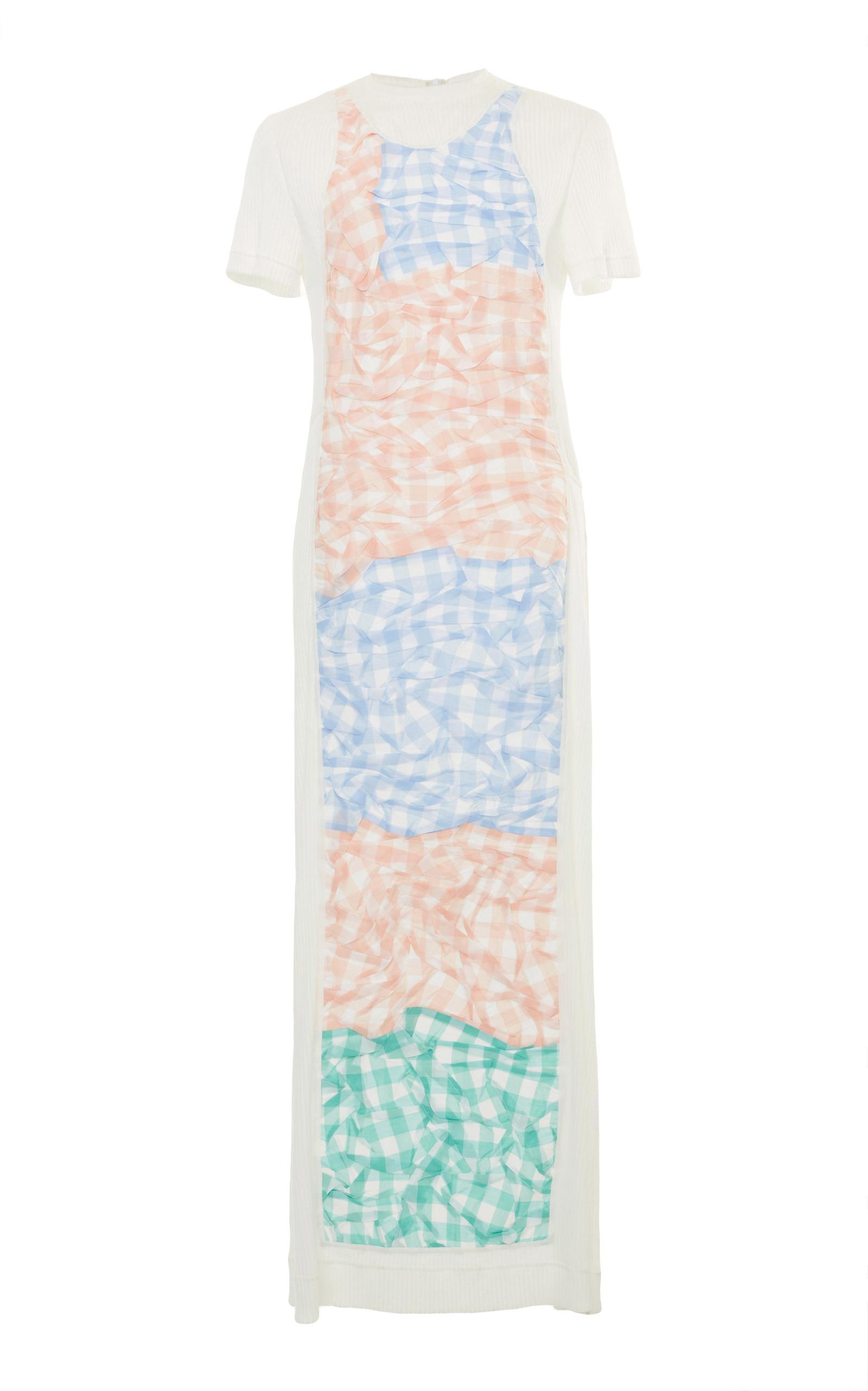 Loewe Gingham Patchwork Shirt Dress In Plaid