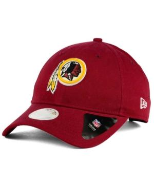New Era Washington Redskins Team Glisten 9Twenty Cap In Maroon