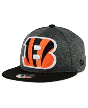 New Era Cincinnati Bengals Heather Huge 9Fifty Snapback Cap In Heather Graphite/Black
