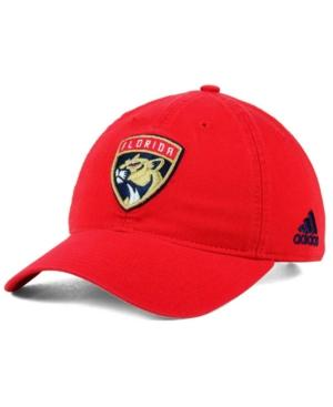 Adidas Originals Adidas Florida Panthers Core Slouch Cap In Red
