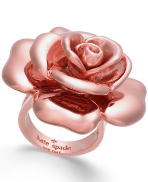 Kate Spade New York 14K Rose Gold-Plated Flower Ring