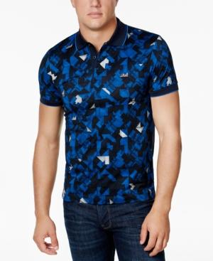 Hugo Boss Men's Classic-Fit Geo-Print Polo In Navy