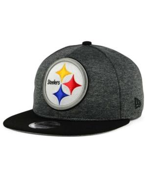 New Era Pittsburgh Steelers Heather Huge 9Fifty Snapback Cap In Heather Charcoal/Black