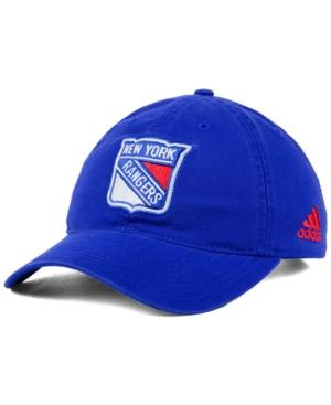 Adidas Originals Adidas New York Rangers Core Slouch Cap In Blue