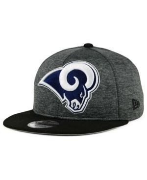 New Era Los Angeles Rams Heather Huge 9Fifty Snapback Cap In Heather Graphite/Black