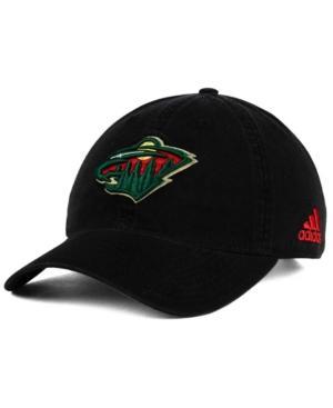 Adidas Originals Adidas Minnesota Wild Core Slouch Cap In Black