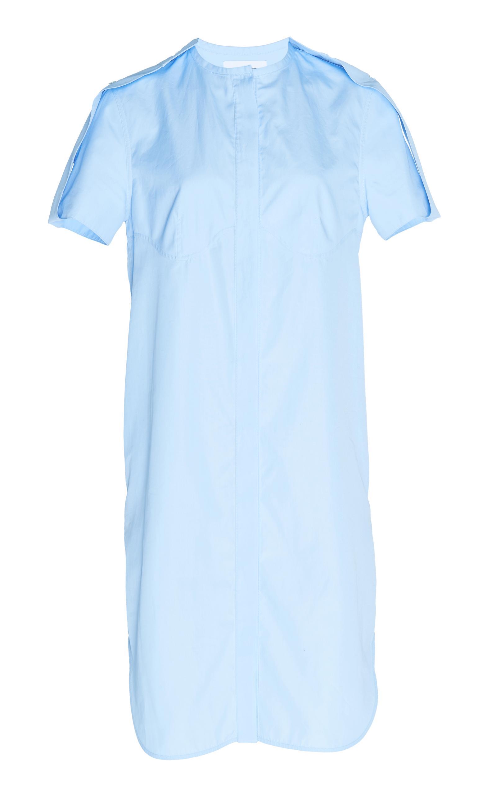 CourrÈGes Poplin Dress In White