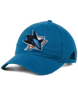 Adidas Originals Adidas San Jose Sharks Core Slouch Cap In Teal