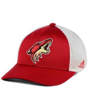 Adidas Originals Adidas Arizona Coyotes Mesh Flex Cap In Red/White