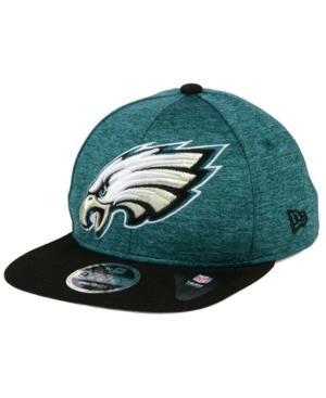 New Era Philadelphia Eagles Heather Huge 9Fifty Snapback Cap In Green/Black