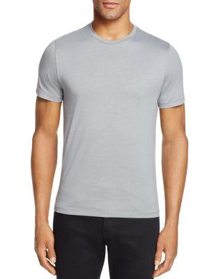 Zachary Prell Mercerized Cotton Tee In Med Gray