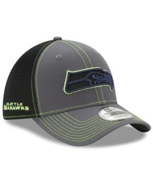 New Era Seattle Seahawks Shock Stitch Neo 39Thirty Cap In Gray