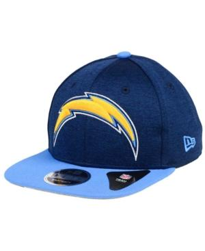 New Era Los Angeles Chargers Heather Huge 9Fifty Snapback Cap In Navy/Lightblue