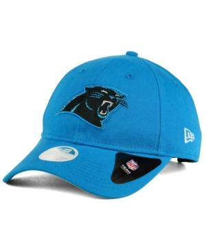 New Era Carolina Panthers Team Glisten 9Twenty Cap In Blue Azure