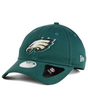 New Era Philadelphia Eagles Team Glisten 9Twenty Cap In Green