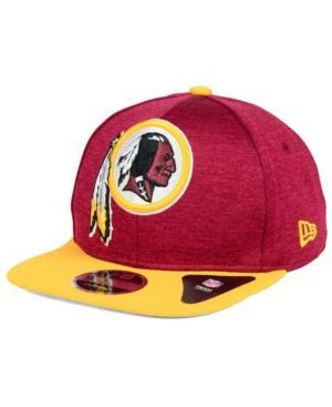 New Era Washington Redskins Heather Huge 9Fifty Snapback Cap In Maroon/Gold