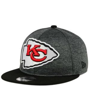 New Era Kansas City Chiefs Heather Huge 9Fifty Snapback Cap In Heather Graphite/Black