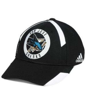 Adidas Originals Adidas San Jose Sharks Practice Jersey Hook Cap In Black/White