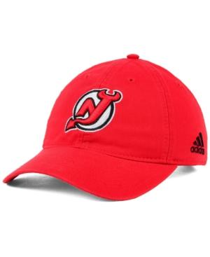 Adidas Originals Adidas New Jersey Devils Core Slouch Cap In Red