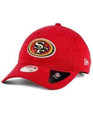 New Era San Francisco 49Ers Team Glisten 9Twenty Cap In Red