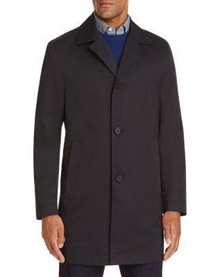 Boss Hugo Boss Solid Raincoat In Dark Blue