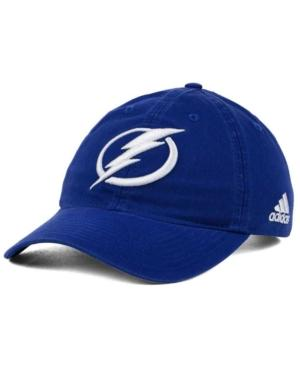 Adidas Originals Adidas Tampa Bay Lightning Core Slouch Cap In Blue