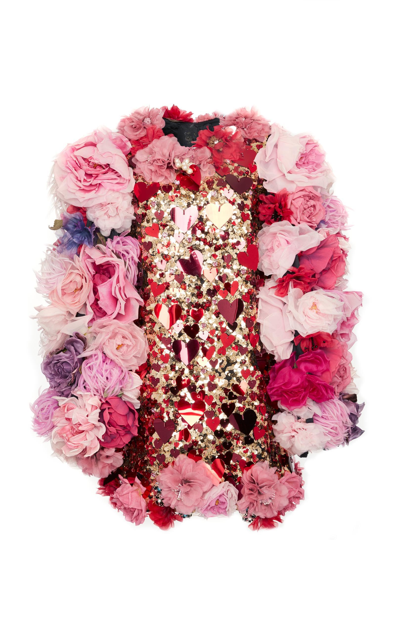 Dolce & Gabbana Sequin Embellished Mini Dress In Pink