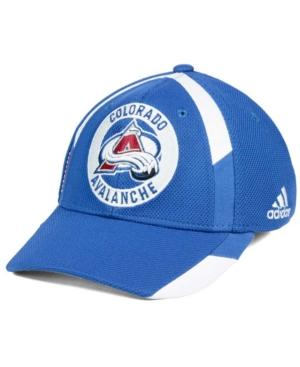Adidas Originals Adidas Colorado Avalanche Practice Jersey Hook Cap In Blue/White