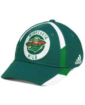 Adidas Originals Adidas Minnesota Wild Practice Jersey Hook Cap In Green/White