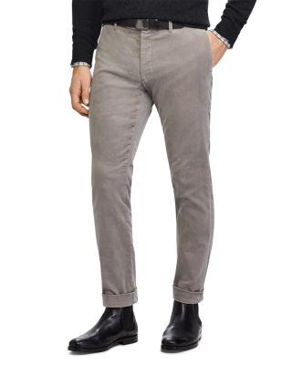 Polo Ralph Lauren Stretch Slim Fit Corduroy Pants In Gray
