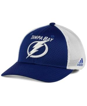 Adidas Originals Adidas Tampa Bay Lightning Mesh Flex Cap In Blue/White