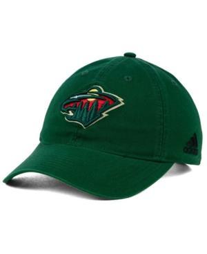 Adidas Originals Adidas Minnesota Wild Core Slouch Cap In Green