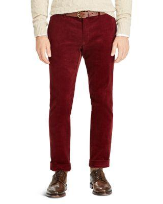 Polo Ralph Lauren Stretch Slim Fit Corduroy Pants In Barclay Red