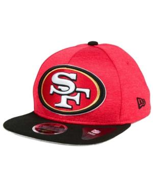 New Era San Francisco 49Ers Heather Huge 9Fifty Snapback Cap In Red/Black