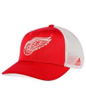 Adidas Originals Adidas Detroit Red Wings Mesh Flex Cap In White