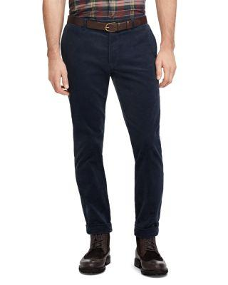Polo Ralph Lauren Stretch Slim Fit Corduroy Pants In Space Black
