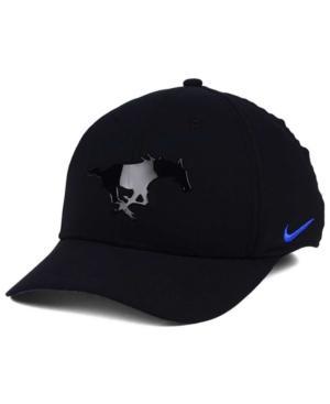 Nike Southern Methodist Mustangs Col Cap In Black
